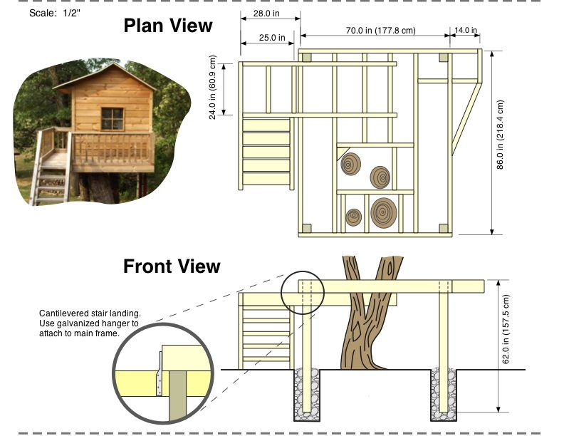 Tree House Plans Free Building Plans Free Shed Plans Floor Plan