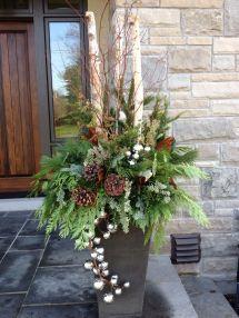 Christmas Outdoor Urn Carla Mcgillivray