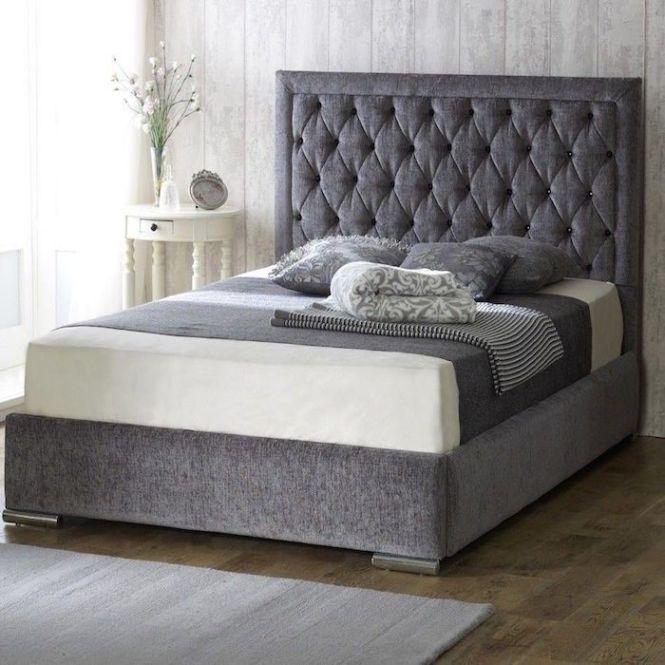 Bethel Fabric Upholstered Bed Frame Luxury Beds Co Uk