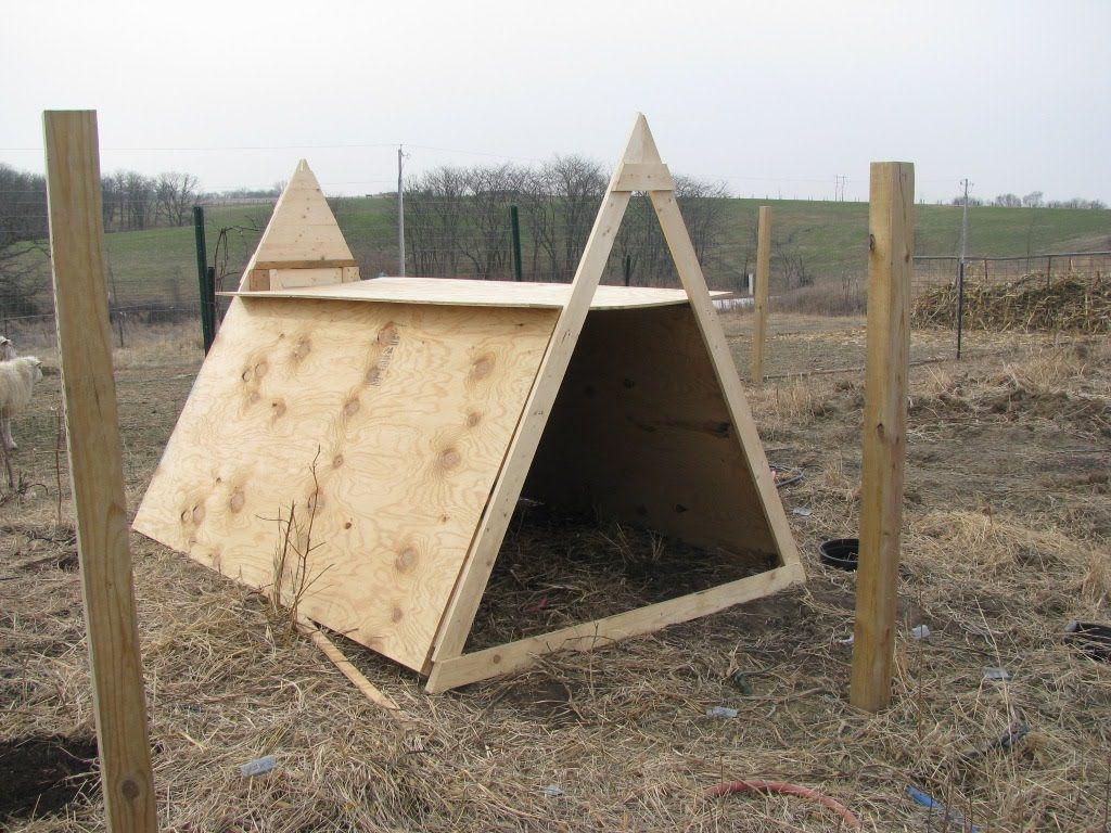 Quick Goat Shelter For Winter For The Farm Pinterest Goat