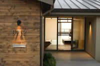 backlit house numbers in Entry Contemporary with blomberg ...