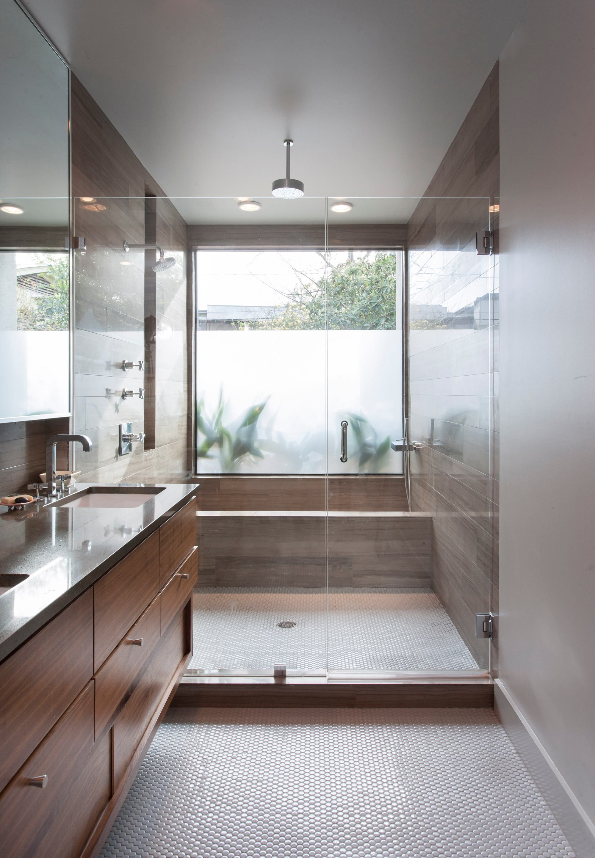 2013 Bath Room Winner Features A Neat Twist On The Oversized Showerwet Room Idea Here The
