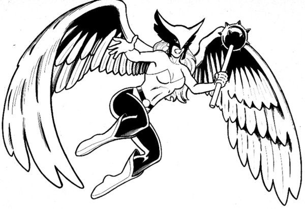 Hawkgirl Coloring Pages 11 Jpg 600 411
