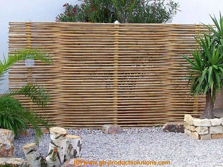 Sitzecke Mit Einem Sichtschutz Aus Bambus Garten Pinterest