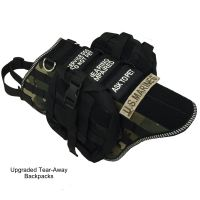 Service Dog Vest - MOLLE Style Dog Harness Vest With Packs ...