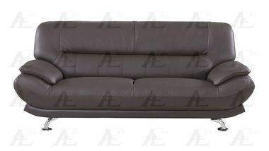genuine leather sofa uk cleaning peterborough stainless steel legs dark chocolate