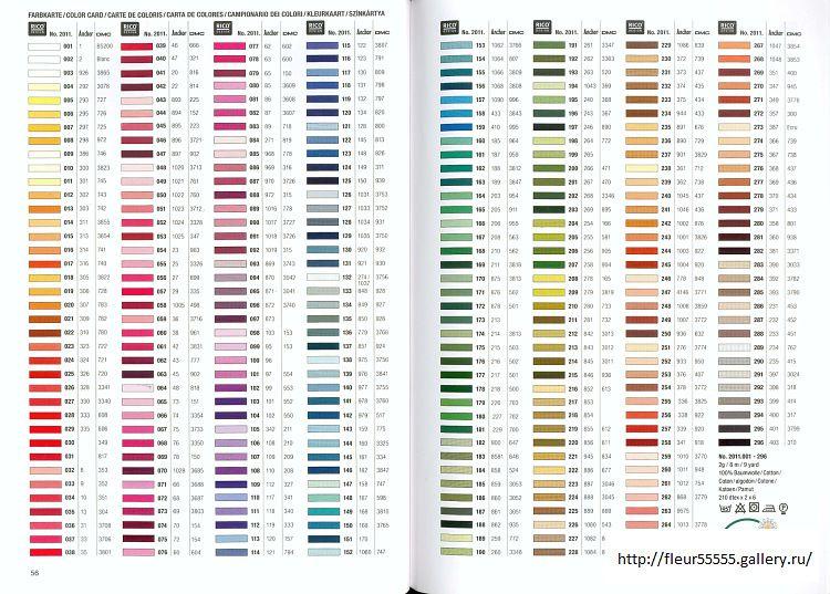 Bucilla Color Conversion Chart