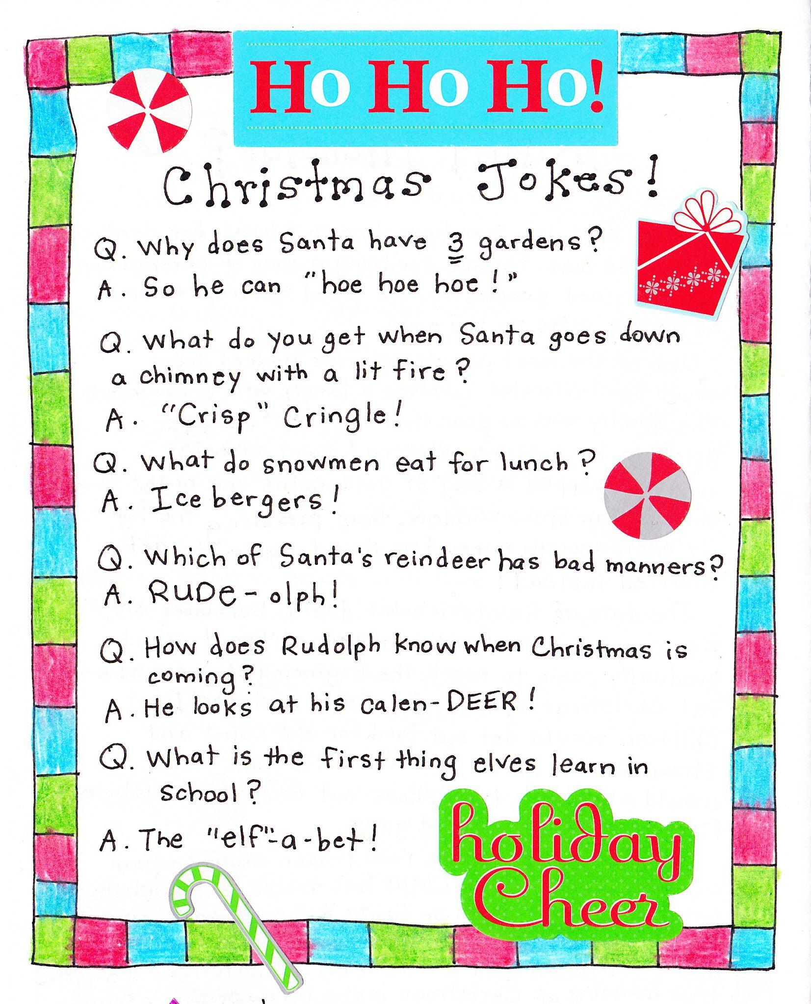 Christmas Jokes Cute For Kids