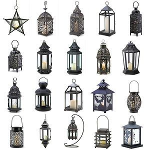 Metal Hanging or Tabletop Candle Lanterns Moroccan Style