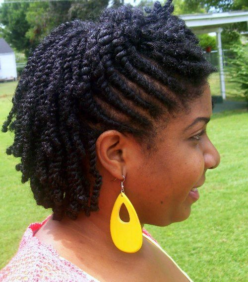 FLAT TWIST OUT – SHORT NATURAL HAIRSTYLE In This Year There Has