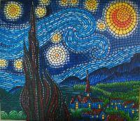 Vincent Van Gogh:Starry Night:Mosaic effect Medium ...