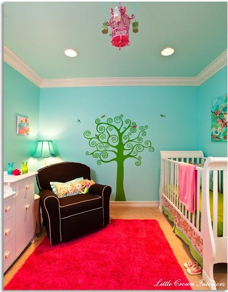 Baby girl   happy room also canvas artwork blue walls and design firms rh in pinterest