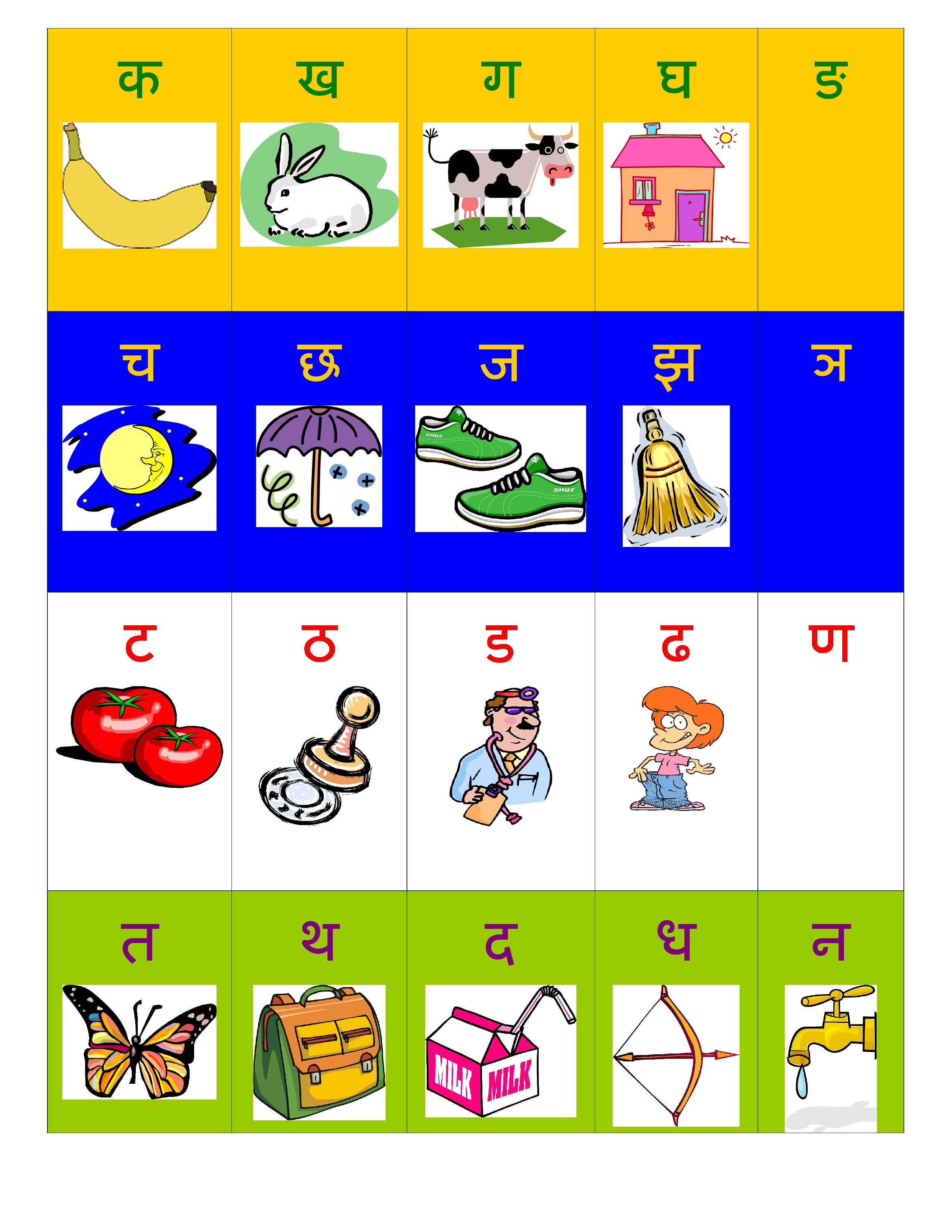 Hindi Alphabet Varnamala Chart Free Print At Home