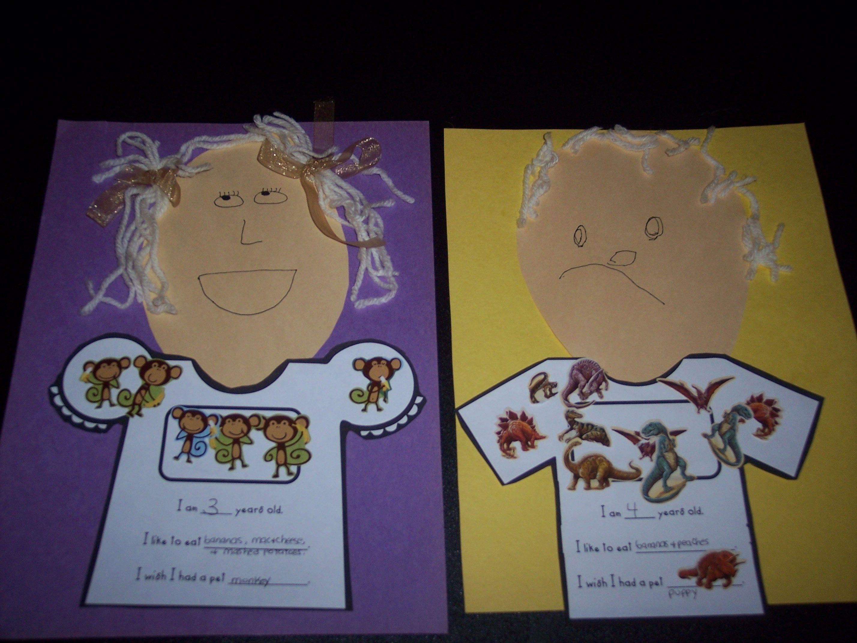 First Day Of Preschool Craft Activities
