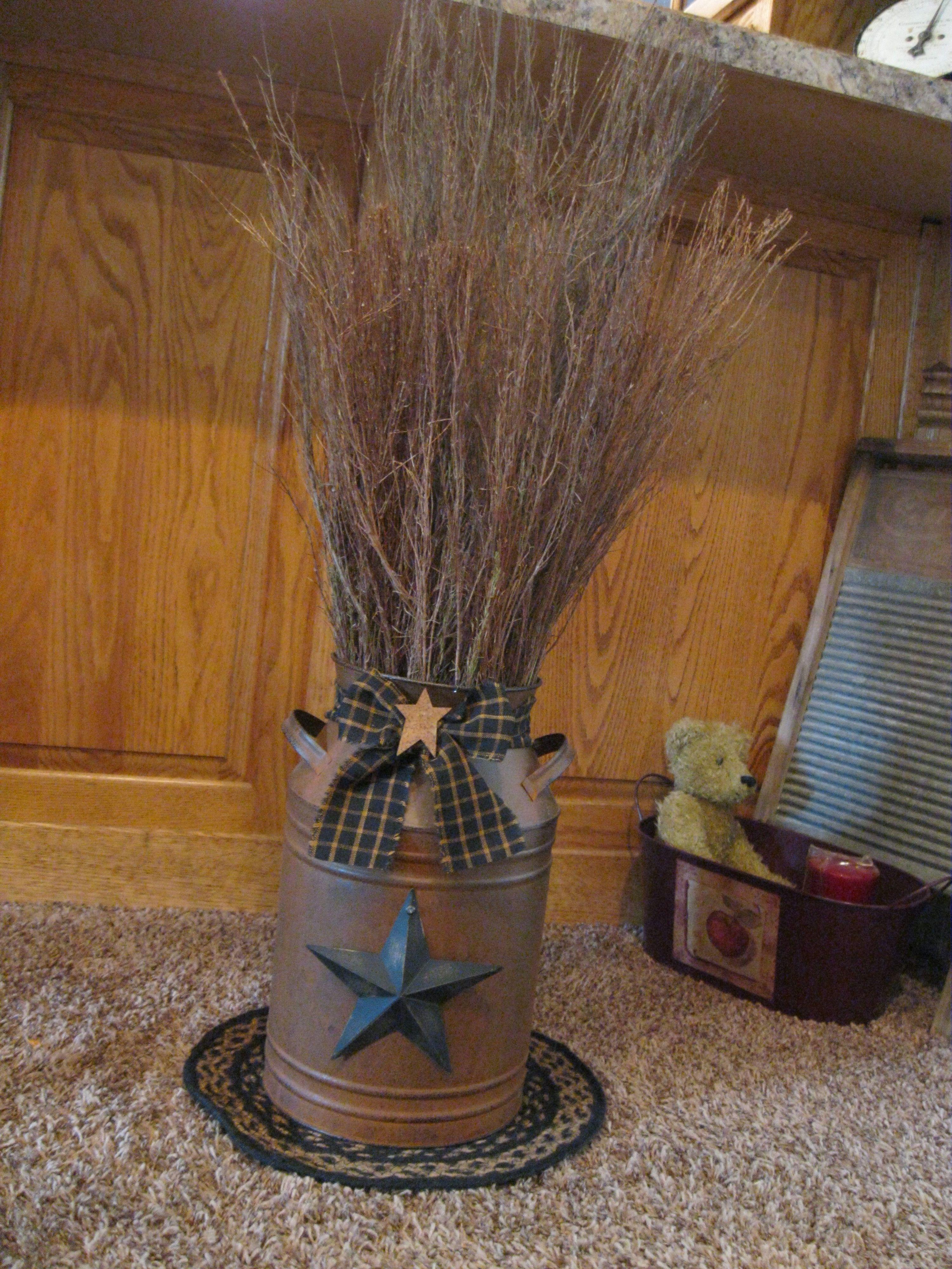 Rusty Milk Can Twigs  Weihnachten  Pinterest  Wohnungsdeko und Weihnachten