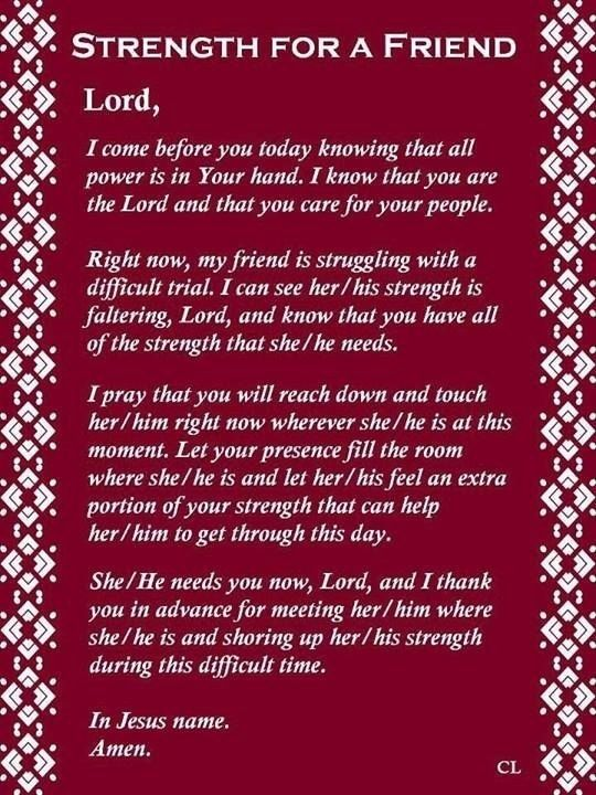 Strength And My Comfort Prayers Family