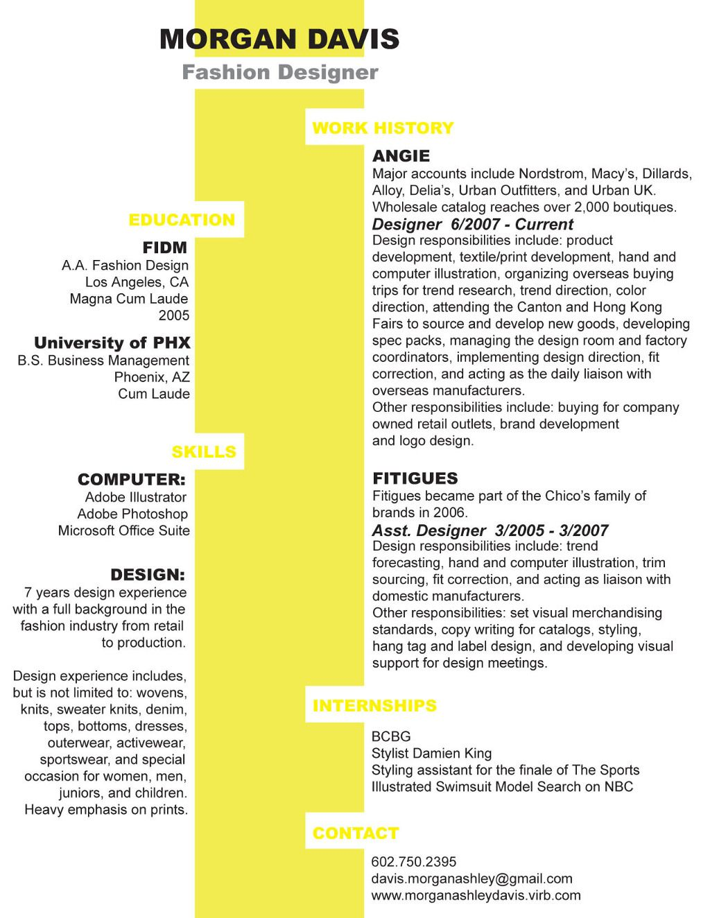 Resume Columns Clever And Unusual Two Column Resume Design Resume