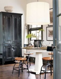 Love the mix of proportions in this cozy dining room also at home rh pinterest