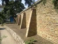 brick buttress cappings - Google Search | earthbag home ...
