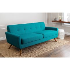 Tufted Turquoise Sofa White Linen Covers Aqua Boca Velvet Yellow Fluro