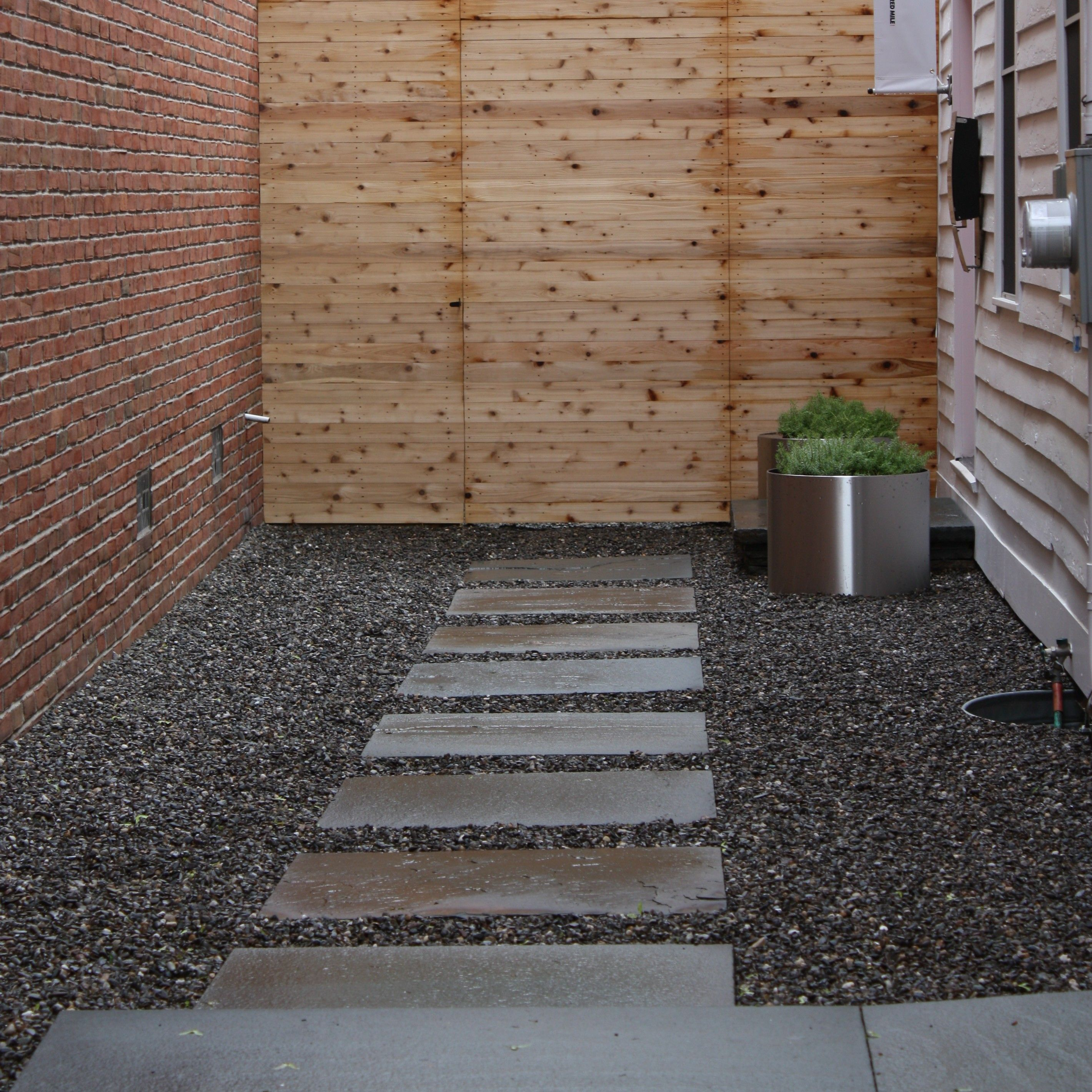 Pea Gravel Walkway Next To Driveway Google Search Deck Patio