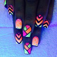 30+ Eye-catching glow nail art designs   Tribal nails ...