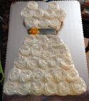 Bridal Shower Wedding Dress Cupcake Cake