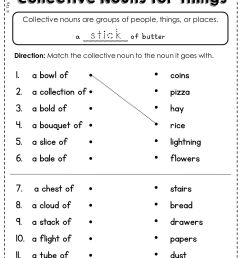 Collective Nouns Worksheets Middle School   Printable Worksheets and  Activities for Teachers [ 2000 x 1500 Pixel ]
