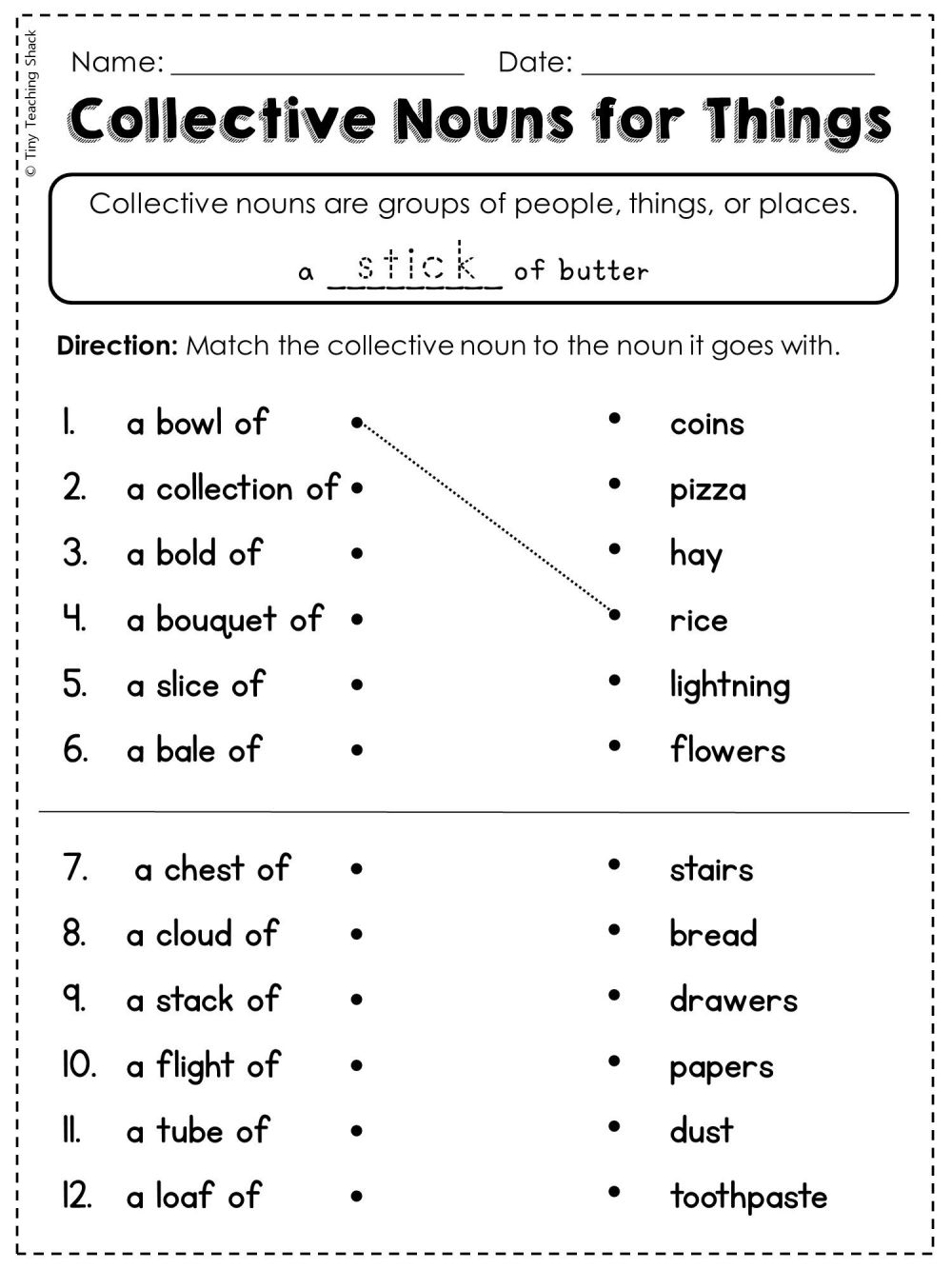 medium resolution of Collective Nouns Worksheets Middle School   Printable Worksheets and  Activities for Teachers