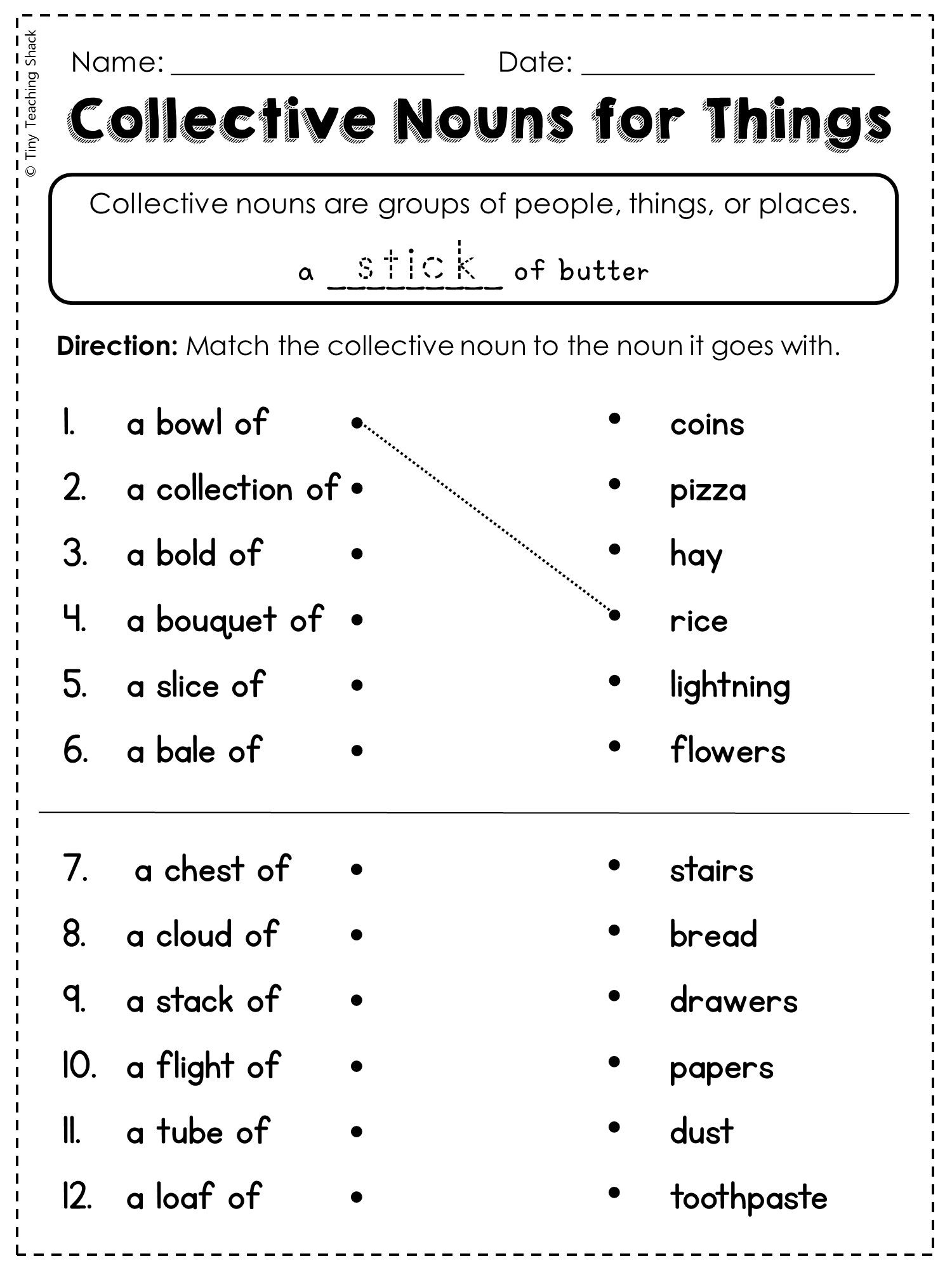 hight resolution of Collective Nouns Worksheets Middle School   Printable Worksheets and  Activities for Teachers