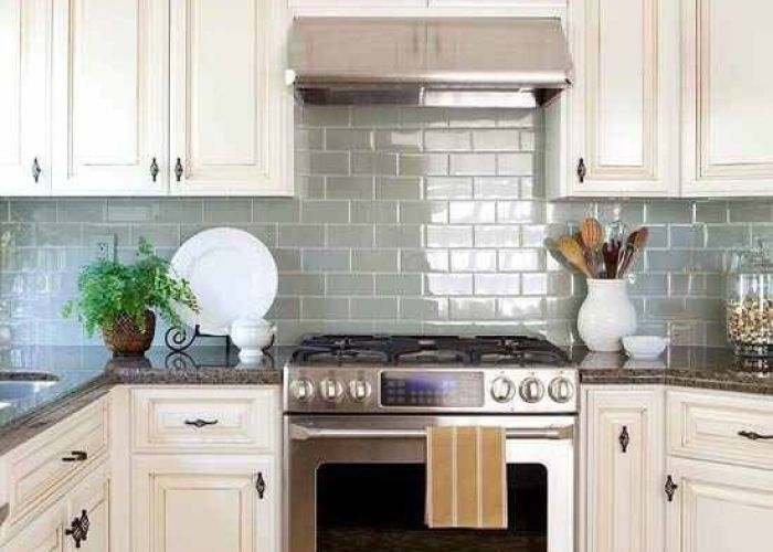 Try adding glass shimmering tiles to open the space up more colorful subway tile also pin by sofia vergara on cocina pinterest kitchens