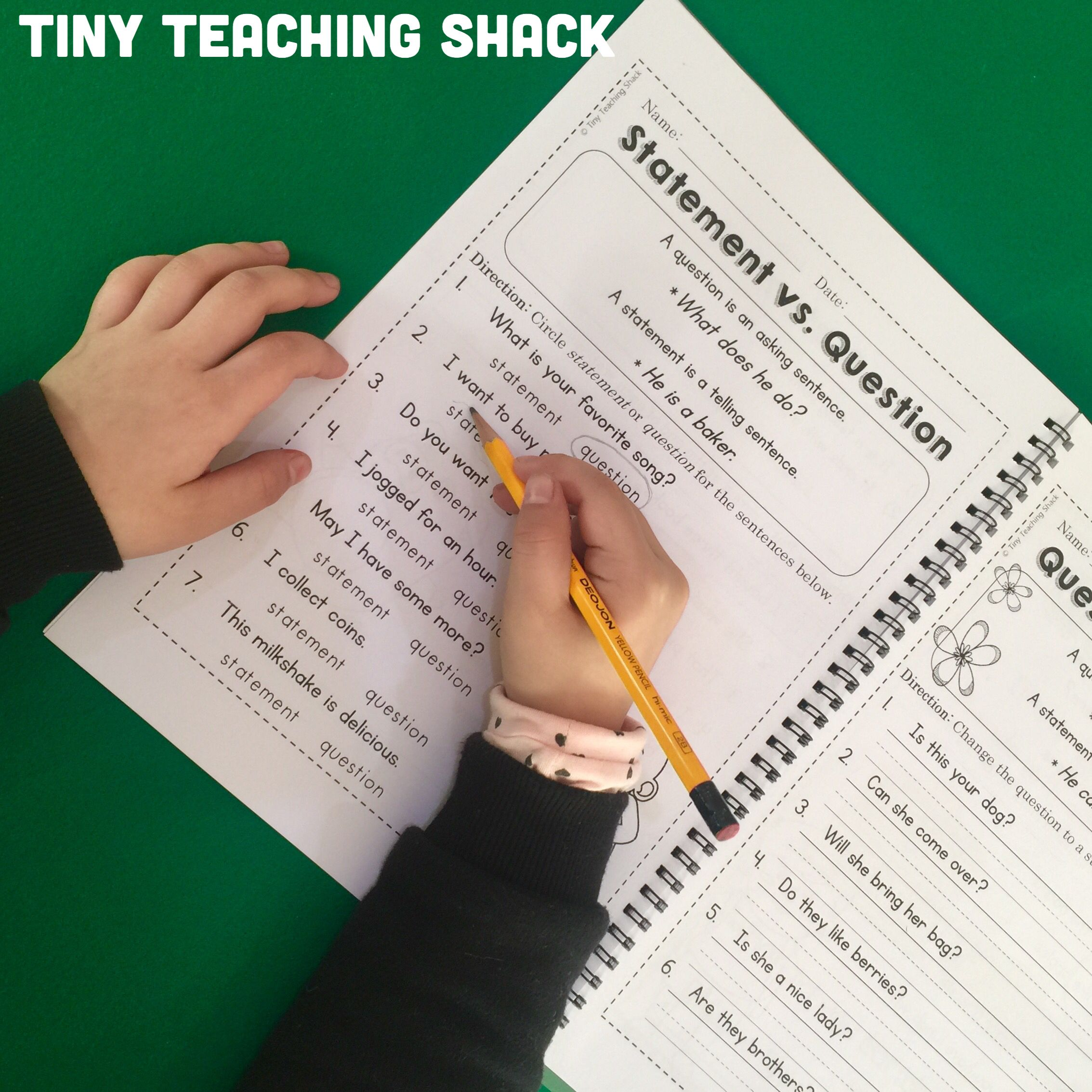 No Prep Grammar Worksheet Packets For Primary Grades