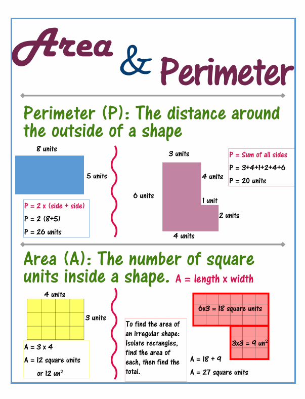 Area And Perimeter On Pinterest  Equivalent Fractions, Elapsed Time And Multiplication
