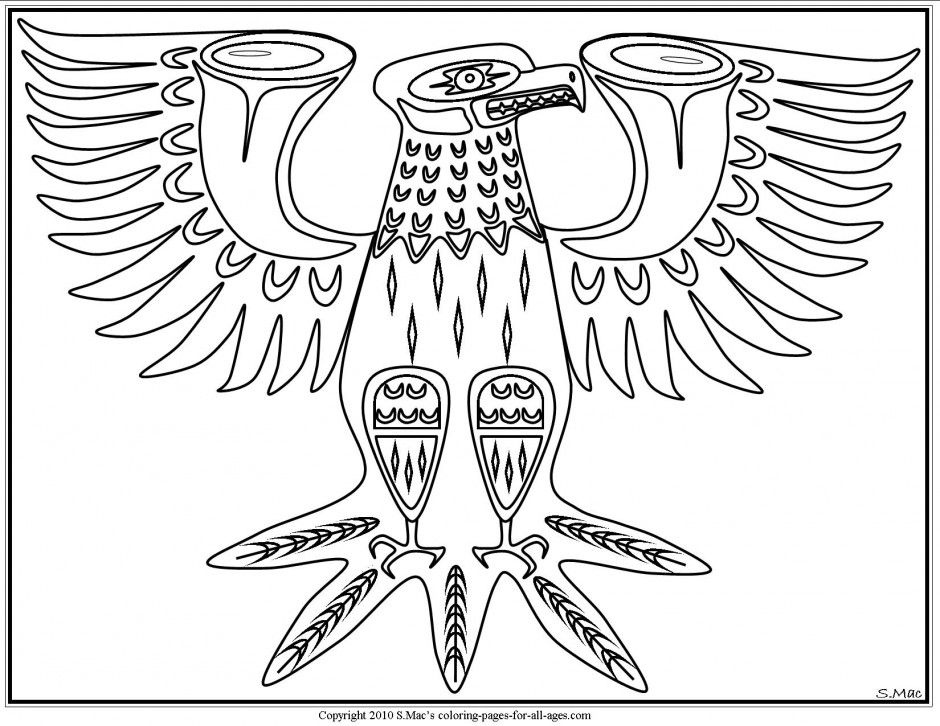 Pacific Northwest Native American Art Coloring Pages S Mac