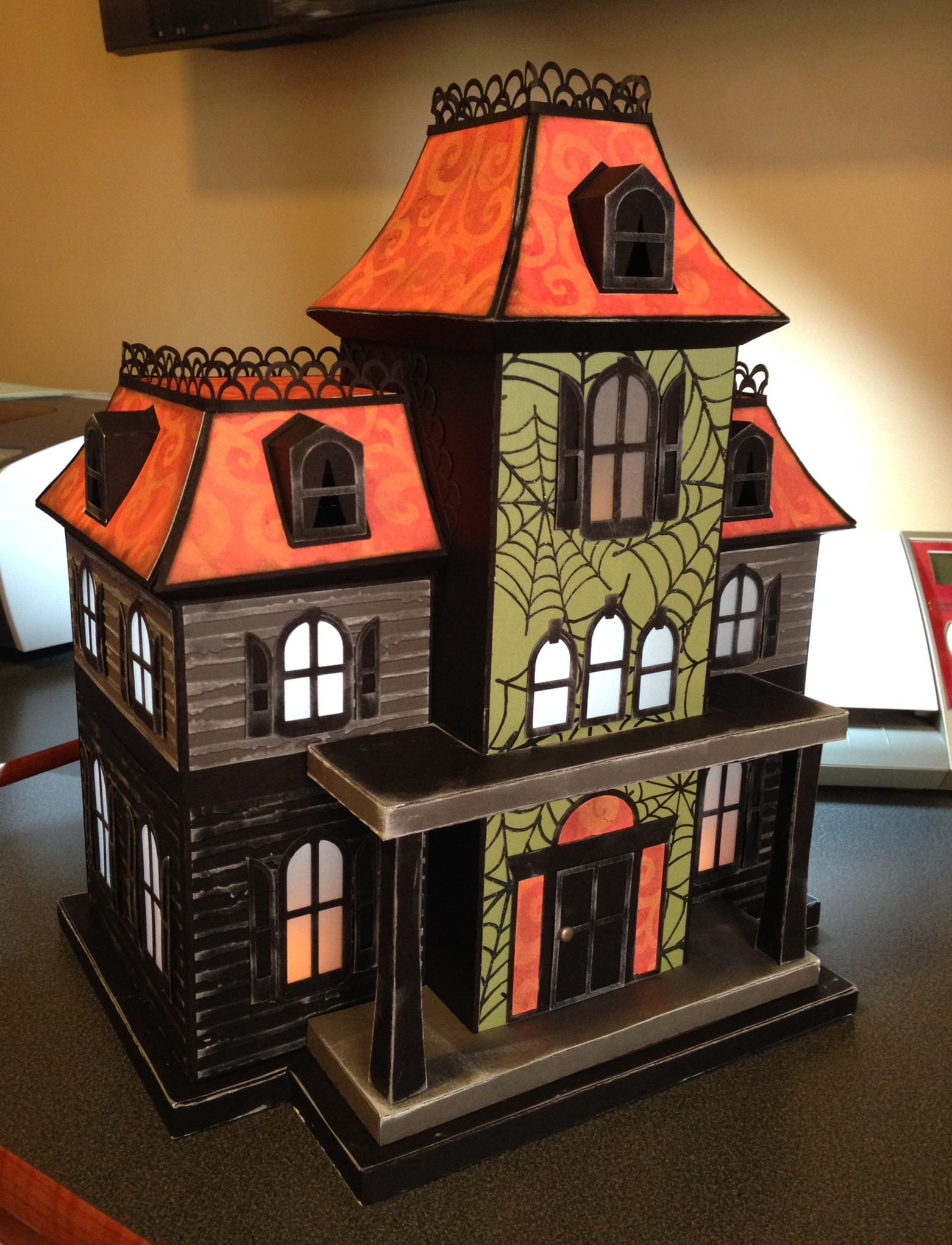 Maple Manor My Version Of An All Paper Haunted House! File From