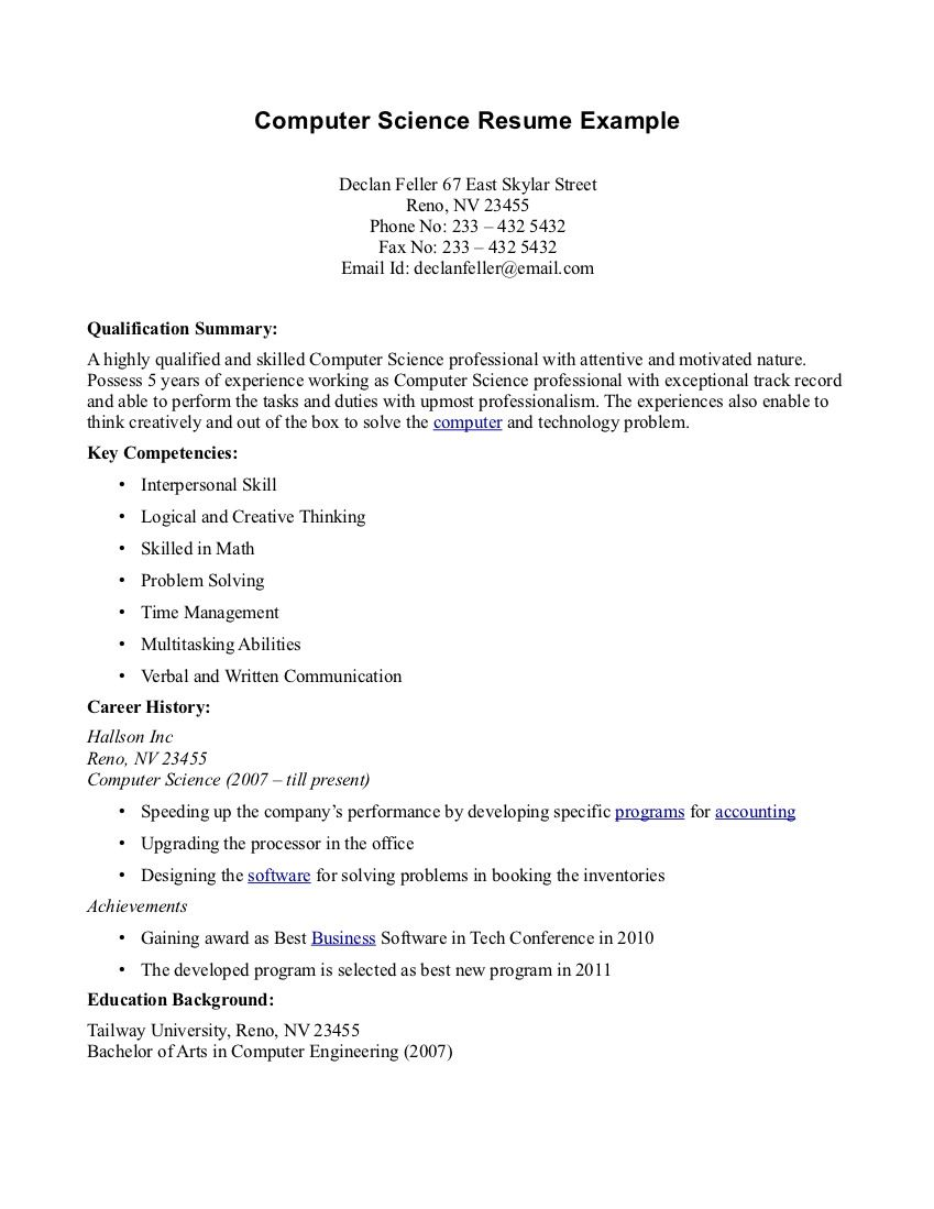 resume resume examples science computer resume examples science templates topresume info computer - Resume Examples Science Field