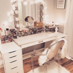 Make Up Chairs Chair Rentals San Jose My Vanity Is Complete Ikea Muji And Target