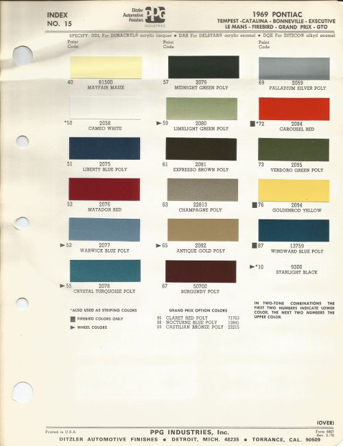 1969 pontiac gto wiring diagram that includes major muscles gto, carousel red, paint code # 72 | chips/\codes/\paint #'s pinterest ...