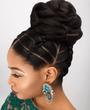 creative updo dionnesmithhair