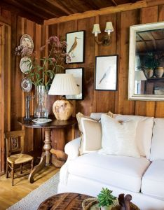 How to make  dark paneled room look fresh  light wood paneling and also rh pinterest