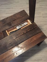 Pallet Coffee Table with Hidden Storage | Rustic coffee ...