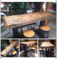 Farm style high top pub table dining harvest by ...