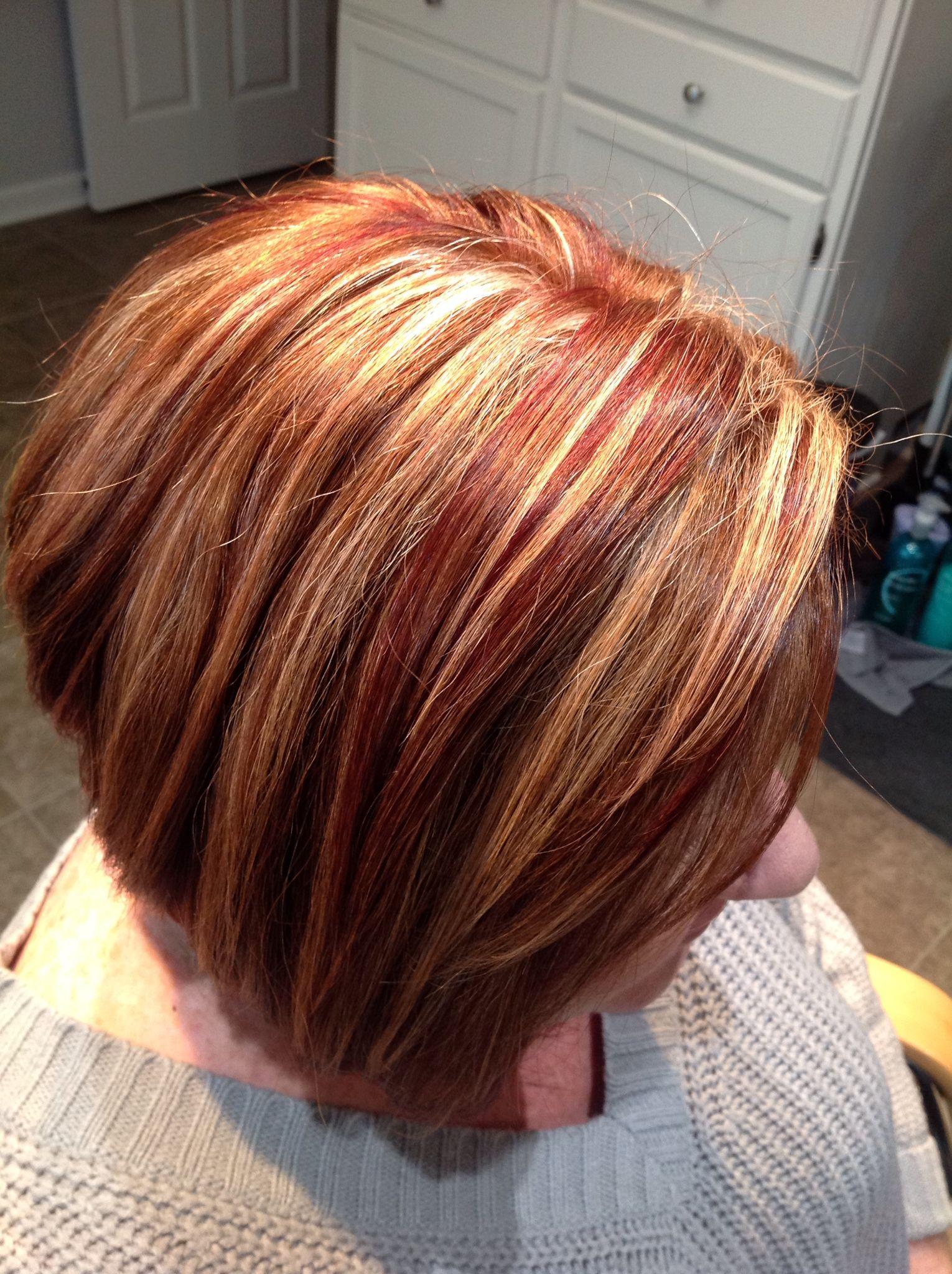 Blonde Highlights Copper Lowlights