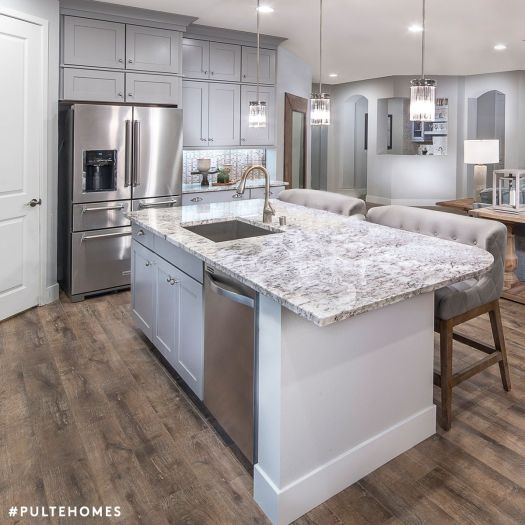 This Inviting Kitchen Is The Epitome Of Refined Elegance In Chic Soothing Grays Pulte Homes