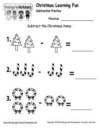 Kindergarten Worksheets Printable | ... Subtraction ...