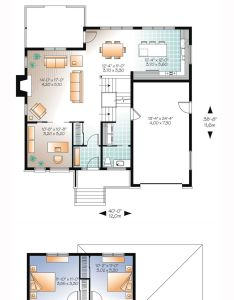 Modern house plan total living area sq ft also rh pinterest
