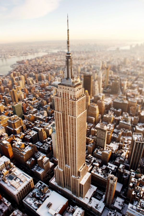 1931 - York City Usa Empire State Building 102 Floors 20th Tallest Skyscraper In