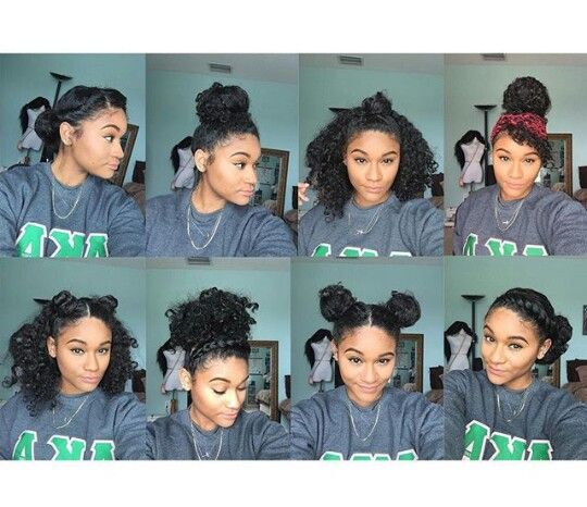 8 Bun Styles For Natural Curly Hair Ig Kharissa Hair Tips