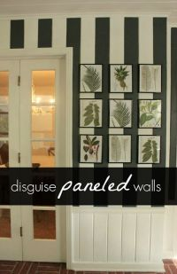 Painted Paneled Walls with chair rail | Decor ideas ...
