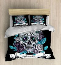 Skull Bedding-Personalized Sugar Skull Bedding by ...